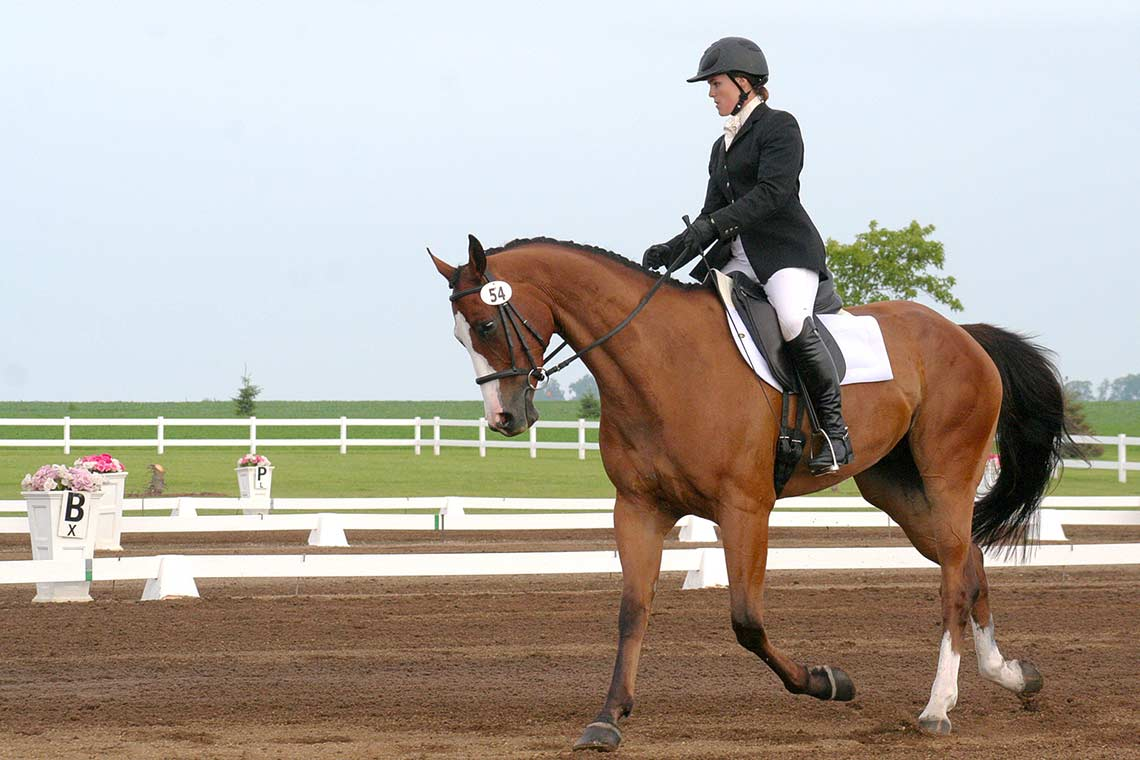 Autumn Schweiss riding her horse during the dressage phase
